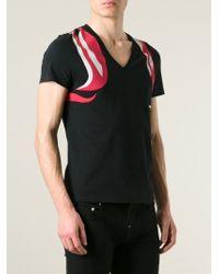 Alexander McQueen | Black Abstract Harness T-Shirt for Men | Lyst