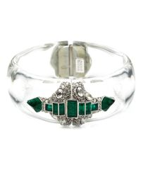 Alexis Bittar - Multicolor Crystal Deco Emerald Baguette Hinged Bracelet - Lyst