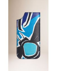 Burberry Brit - Blue Insects Of Britain Print Leather Iphone 6 Case - Lyst