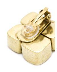 Vaubel - Metallic Four Square Clip-on Earrings - Lyst