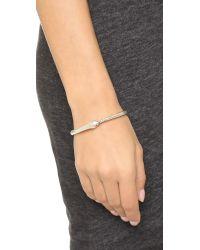 Pamela Love | Metallic Ouroboros Bangle Bracelet - Antique Silver | Lyst