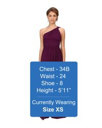 Donna Morgan - Purple One Shoulder Strapless Gown - Rachel - Lyst