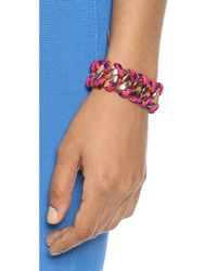 Marc By Marc Jacobs - Multicolor Corded Katie Bracelet Pink Multi - Lyst