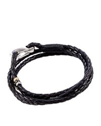 Paul Smith | Black Woven Leather Bracelet for Men | Lyst