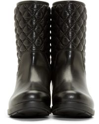 Moncler | Black Quilted Piccadilly Ankle Boots | Lyst