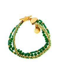 Henri Bendel | Green St Tropez Delicate Bracelet | Lyst