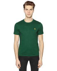 Polo Ralph Lauren | Green Logo Embroidered Cotton T-shirt for Men | Lyst