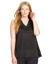 Lauren by Ralph Lauren | Black Bayse Sleeveless Top | Lyst