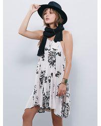 Free People | Black Fp X Womens Fp X Printed Swing Dress | Lyst