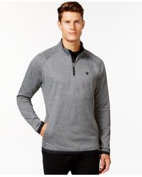 Champion | Gray Tech Fleece Quarter-zip Jacket for Men | Lyst