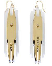 Sarah Angold Studio   Metallic 'Shilo' Earrings   Lyst