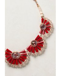 Anthropologie | Red Zinnia Bib Necklace | Lyst