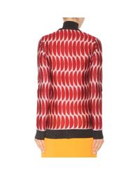 Marni - Red Metallic Cardigan - Lyst