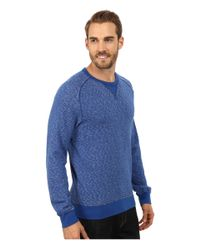 Lucky Brand | Blue Long Sleeve Crew for Men | Lyst