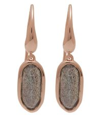Monica Vinader | Pink Rose Gold-plated Labradorite Vega Drop Earrings | Lyst