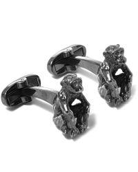 Paul Smith - Metallic Silver-tone Monkey Cufflinks for Men - Lyst