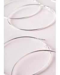 Missguided | Metallic 3 Pack Hoops | Lyst