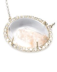 Kimberly Mcdonald | White Quartz And Diamond Necklace | Lyst