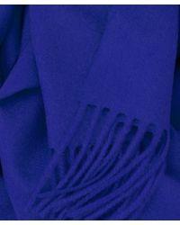 Johnstons - Blue Plain Cashmere Scarf for Men - Lyst