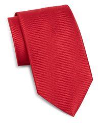 Burma Bibas | Red Solid Silk Tie for Men | Lyst
