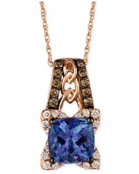 Le Vian | Blueberry Tanzanite (1-3/8 Ct. T.w.) And Diamond (1/3 Ct. T.w.) Pendant Necklace In 14k Rose Gold | Lyst