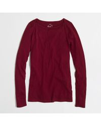 J.Crew - Red Factory Artist Boatneck Tee - Lyst