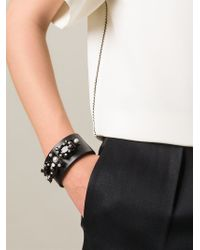 Givenchy - Black Embellished Cuff - Lyst