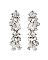Ben-Amun | Metallic Crystal Vine Earrings | Lyst