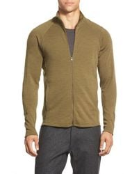 Ibex | Green 'northwest' Zip Front Sweater for Men | Lyst