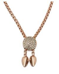 Monica Vinader - Metallic Rose Gold Vermeil Ruby Baja Precious Bracelet - Lyst