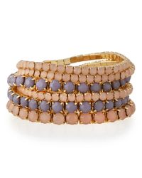R.j. Graziano | Pink Golden Stretch Bracelet Set | Lyst