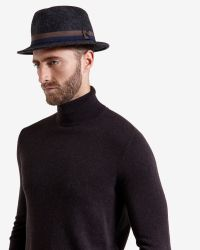 Ted Baker | Gray Moulded Wool Trilby Hat for Men | Lyst