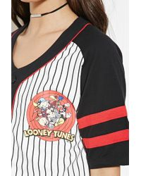 Forever 21 - White Looney Tunes Graphic Jersey - Lyst
