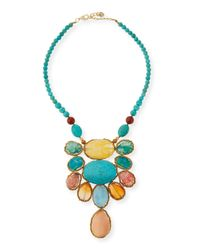 Nakamol | Blue Turquoise Magnesite & Agate Statement Necklace | Lyst
