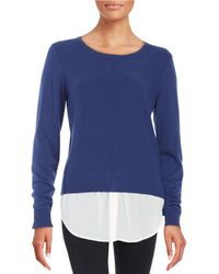DKNY | Blue Layered-style Sweater | Lyst