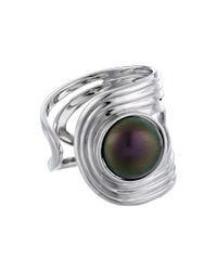 Majorica | Metallic 10mm Cuff Ring | Lyst