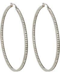Fallon   Metallic Oversize Hoop Earrings   Lyst