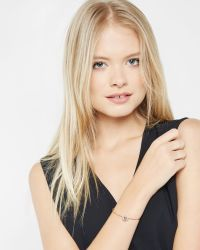 Ted Baker - Pink Crystal Bangle - Lyst