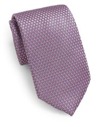 Saks Fifth Avenue | Pink Neat Circle Silk Tie for Men | Lyst