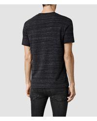 AllSaints | Black Fraction Tonic Crew T-shirt for Men | Lyst