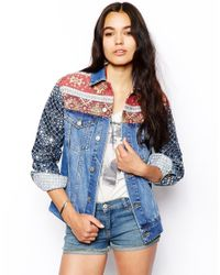 ASOS - Multicolor Boyfriend Jacket with Embellished Sleeve - Lyst
