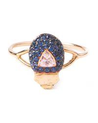Daniela Villegas | Metallic 'maat' Beetle Sapphire Ring | Lyst