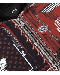 Versus Multicolor Bandana Print Bomber Jacket for men