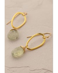 Anthropologie - Metallic Dewdrop Earrings - Lyst