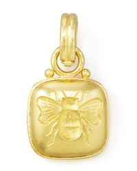 Elizabeth Locke | Metallic 19k Cushion Gold Bee Pendant | Lyst