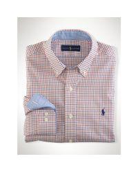 Polo Ralph Lauren - Orange Non-Iron Tattersall Shirt for Men - Lyst