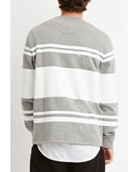 Forever 21 - Multicolor Gradated Stripe Sweatshirt for Men - Lyst