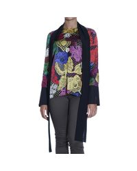 Just Cavalli | Multicolor - Printed Satin Blouse - Multi | Lyst