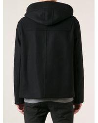 Neil Barrett - Black Woven Duffle Coat for Men - Lyst