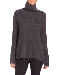 Rag & Bone - Gray Ribbed Turtleneck Sweater - Lyst